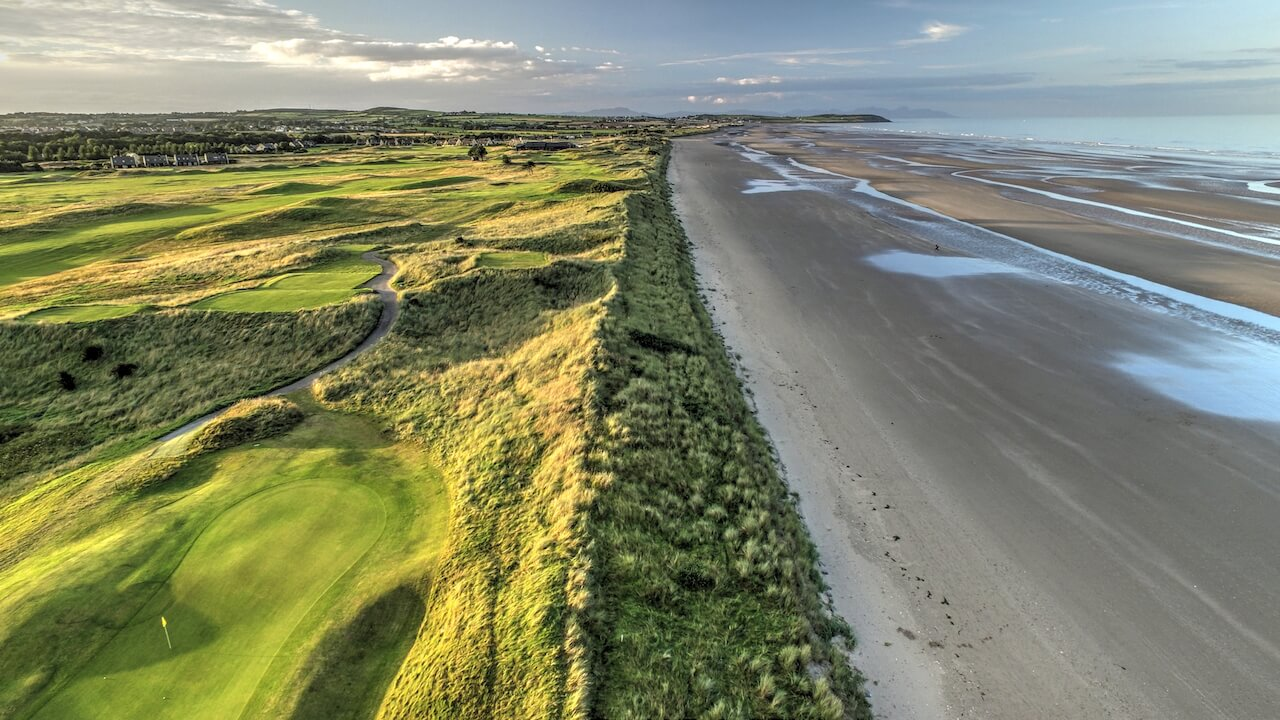 drone photography of seapoint golf club